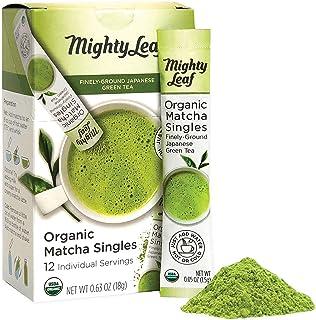 Mighty Leaf Tea Singles Packets Green Tea Powder 12ct Single Packets USDA Japanese Origin Usucha Grade 512983, Organic Mat...