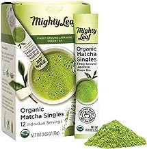 Mighty Leaf Tea Organic Matcha Singles Packets, Matcha Green Tea Powder, 12ct Single Packets, USDA Organic, Japanese Origi...