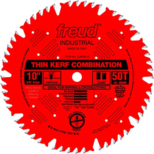 """new arrival Freud 2021 10"""" wholesale x 50T Thin Kerf Combination Blade (LU83R010) outlet online sale"""