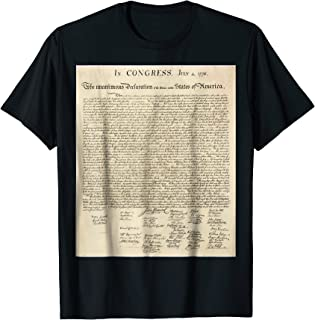 Declaration Of Independence Signatures T-Shirt