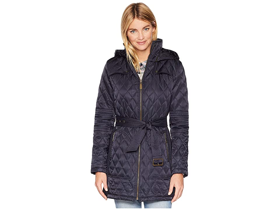Vince Camuto Belted Quilt Jacket L1361 (Navy) Women