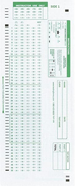 TEST-100E 882 E Compatible Testing Forms (100 Sheet Pack)