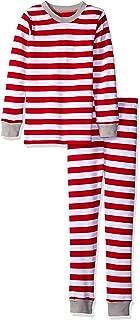 L'bKIDS by L'ovedbaby Unisex Kids Organic Holiday Pajama Set