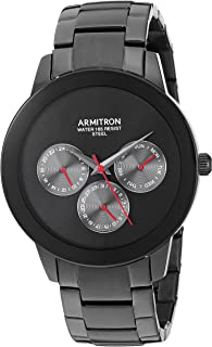 Armitron Men's Multi-Function Dial Black Bracelet Watch, 20/5165BRTI
