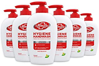Lifebuoy Hygiëne Handzeep Protect & Hydrate (antibacterieel), zeepdispenser - 6 x 250 ML - Voordeelverpakking