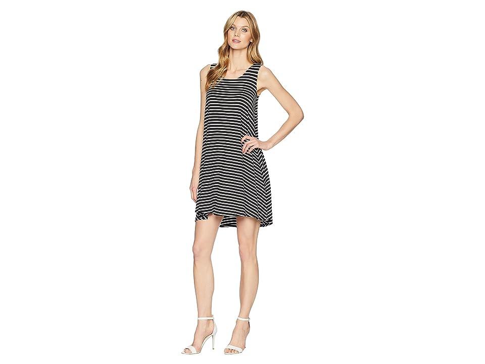 Karen Kane Hi-Lo Hem Dress (Stripe) Women