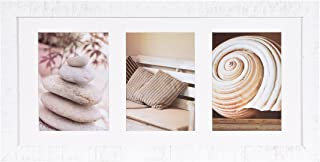Henzo Driftwood Wooden Picture Photo Frame, Wood, White, 27.5 x 54.5 x 1.5 cm
