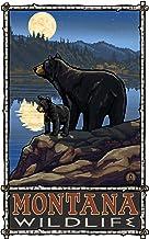 دببة مونتانا من نورث ويست آرت مول مع لوحة القمر من بول إيه لانكويست، 27.94 سم × 43.18 سم