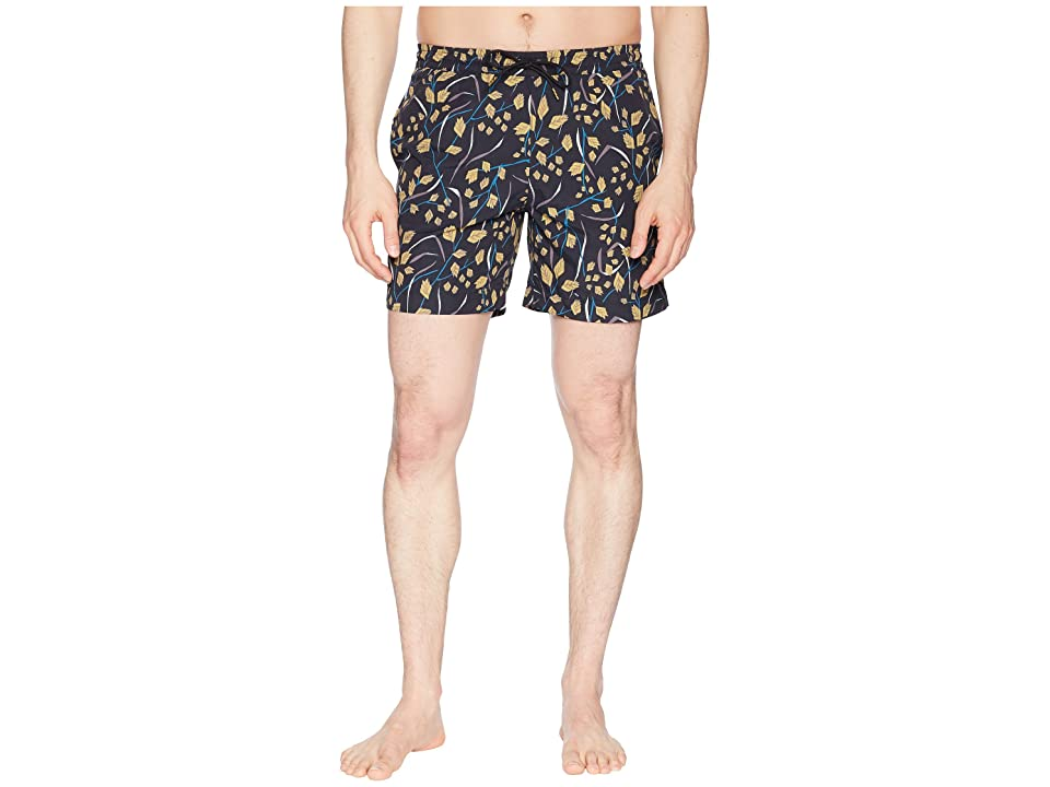 Image of Billy Reid Sea Oat Swim Shorts (Navy) Men's Swimwear