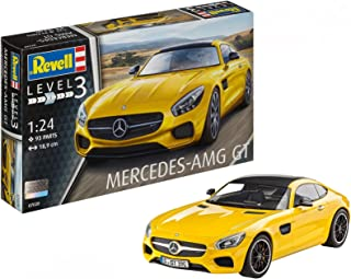 Revell Mercedes AMG GT Escala 1/24-Revell RE07028, Color Amarillo, 18,9 cm de Largo (07028)