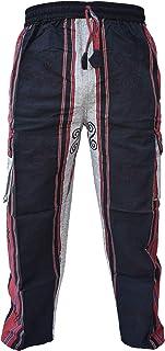 Gheri Men's Cotton Plain Printed Loose Casual Trousers