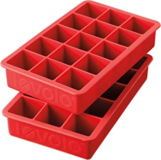 Tovolo Tray of 1.25-Inch Cubes for Whiskey, Bourbon, Spirits & Liquor, BPA-Free Silicone, Fade Resistant Set of 2 81-9516