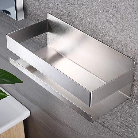 Deprik Étagère de douche sans perçage – Étagère de douche autocollante en acier inoxydable pour la salle de bain et la cuisine