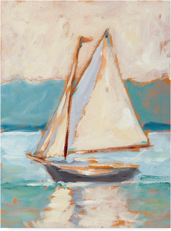 Trademark Fine Art Contemporary Yacht I by Ethan Harper, 14x19
