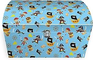 Idena 30214 Coffre à jouets Pirate pour garçon Multicolore