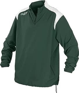 Unisex Youth Quarter Zip Long Sleeve Baseball Jacket