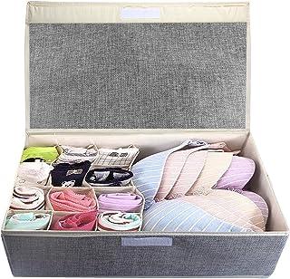 Tomedeks Organiseurs de tiroir,rangement sous vetement rangement chaussette paniers et boîtes de rangement