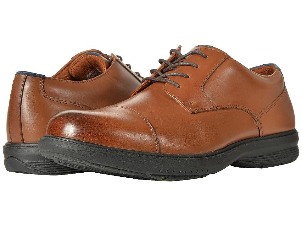 Nunn Bush Melvin Street Cap Toe Oxford with KORE Slip Resistant Walking Comfort Technology (Tan) Men
