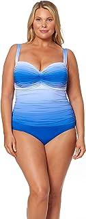 Bleu Rod Beattie Womens RBGH19248X Plus Size Shirred Bandeau One-Piece Swimsuit Bathing Suit One Piece Swimsuit