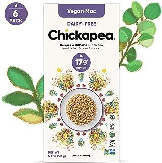 Chickapea Organic Chickpea Lentil Vegan Mac - Dairy-Free, High Protein, Gluten-Free Macaroni (Pack of 6)