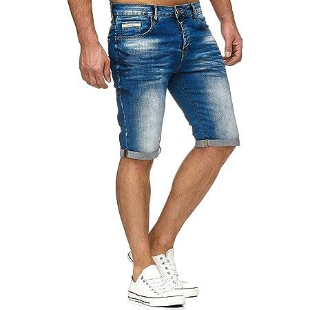 Red Bridge Herren Jeans Shorts Kurze Hose Denim Bermuda Stretch Capri Basic