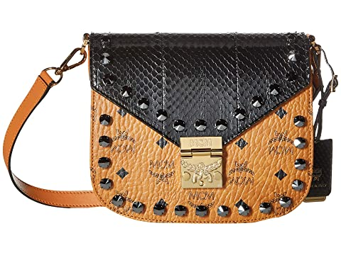 MCM Patricia Exotic Crystal Shoulder Small