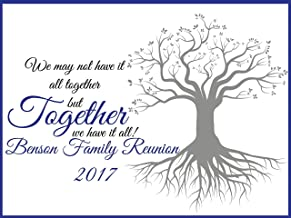 Family Reunion Decorations, Personalized Family Reunion Backdrop, Family tree, Family Signs, family reunion banner, reunion party, handmade party supplies, Custom Banner Size 24x36, 48x24, 48x36