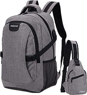 Laptop Backpack Durable Women Men Travel Backpacks with USB Charging Port College School bag Waterproof