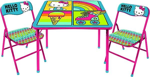 SANRIO Hello Kitty 3Piece Table Chair Set