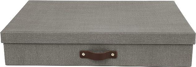 Bigso Sverker — Caixa de armazenamento de arte e painel de fibra de fibra, 8,3 x 43,4 x 31 cm, cinza
