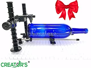 Creator's Over-The-TOP Advanced Artist's Glass Bottle Cutter - Precision Designed Professional Instrument - Cut Beer, Wine Bottles, Bottle Necks, and Neck Contours - Born and Made in The USA