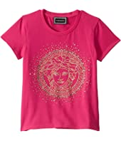 Versace Kids - T-Shirt with Strass Medusa Logo (Little Kids)
