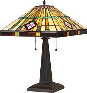 Chloe Lighting CH35549BM16-TL2 Tiffany Martin, Tiffany-Style 2 Light Mission Table Lamp 16