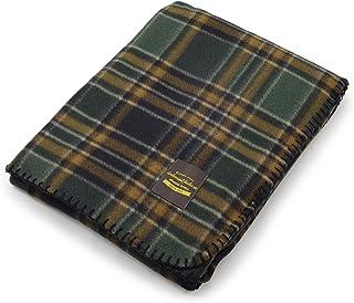 薄手 フリースブランケット ひざ掛け チェック柄 北欧風 ステッチ入り Mサイズ(100×140cm) Sサイズ(70×100cm) 冷房対策にも最適