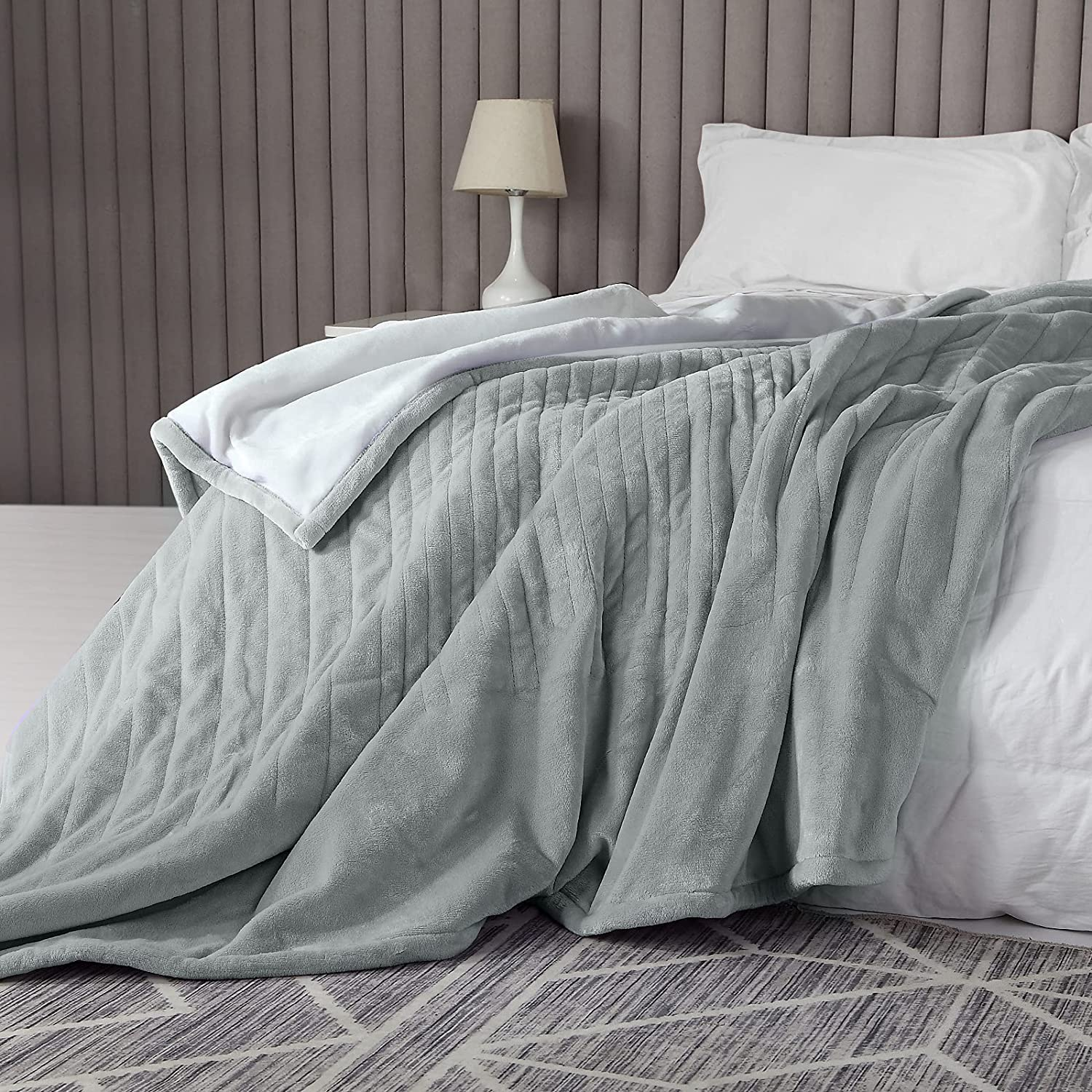 Electric Heated Blanket half Double Sided 9 unisex Flannel with Throw