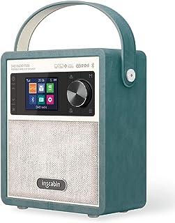 Inscabin P200 Portable DAB/DAB+ FM Digital Radio- Portable Wireless Speaker with Bluetooth,Stereo Sound,Beautiful design,D...