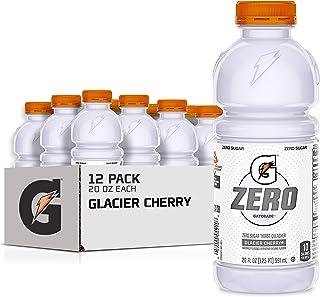 Gatorade Zero Sugar Thirst Quencher, Glacier Cherry, 20 Fl Oz (Pack of 12)