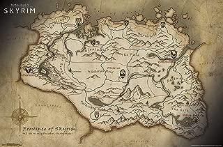 Trends International The Elder Scrolls V: Skyrim-Map Mount Wall Poster, 22.375