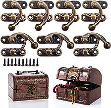 JJYHEHOT Antieke grendelhaak, hoorslot in retro-stijl, decoratieve houten kist, juwelenkistje, wijnkast (12 stuks)