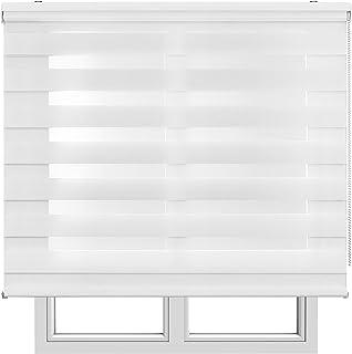Estores Basic, Stores noche y día, Blanco, 90x250cm, estores plegables, persianas enrollables para el interior.