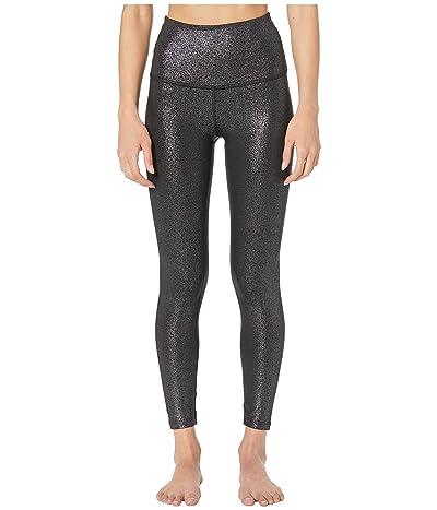 Beyond Yoga Twinkle High-Waist Midi Leggings (Black/Silver Twinkle) Women