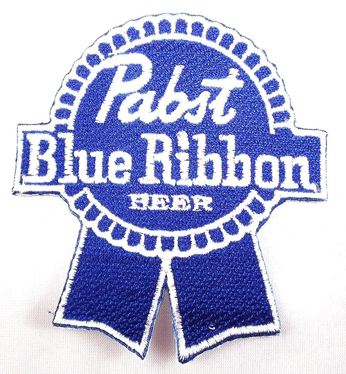 Pabst Blue Ribbon PBR Beer Patches 7x7.8 Cm Iron on Patch/embroidered Patch This Appliques Are Great for T-shirt, Hat, Jean ,Jacket, Backpacks