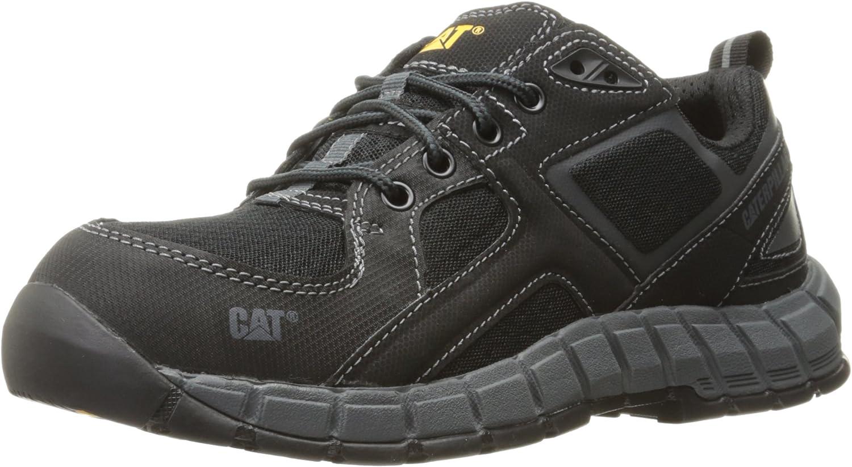 Caterpillar Men's Gain Steel Toe   Black Work shoes