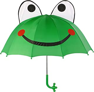 Green Frog Umbrella With Fun Frog Leg Handle, Pop-Out Eyes, Big Smile