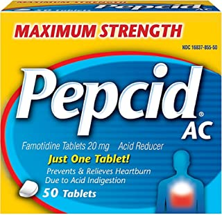 Pepcid Max Strength Table Size 50ct Pepcid Max Strength Tablets 50ct