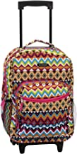 Rockland 17 Inch Rolling Backpack, Tribal, One Size