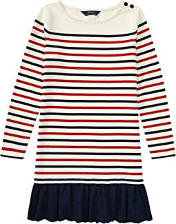 Polo Ralph Lauren Kids - Striped Cotton Jersey Dress (Little Kids/Big Kids)