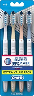 Oral-B Pro-Health Toothbrush, All-in-One,  Pastel 4ct, Color may vary