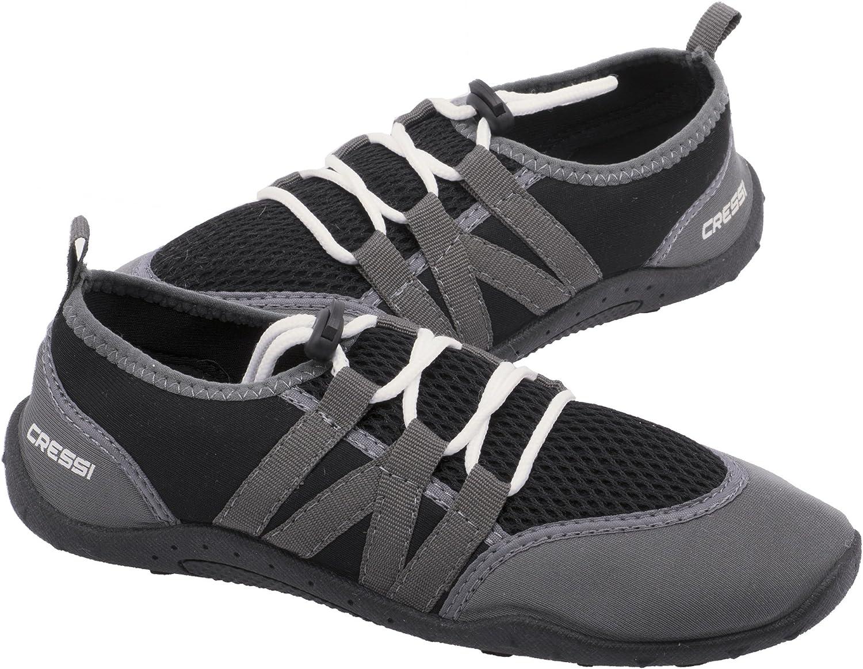 Cressi Women's Elba Manufacturer direct delivery Water Shoes 8 Black US Grey Indefinitely