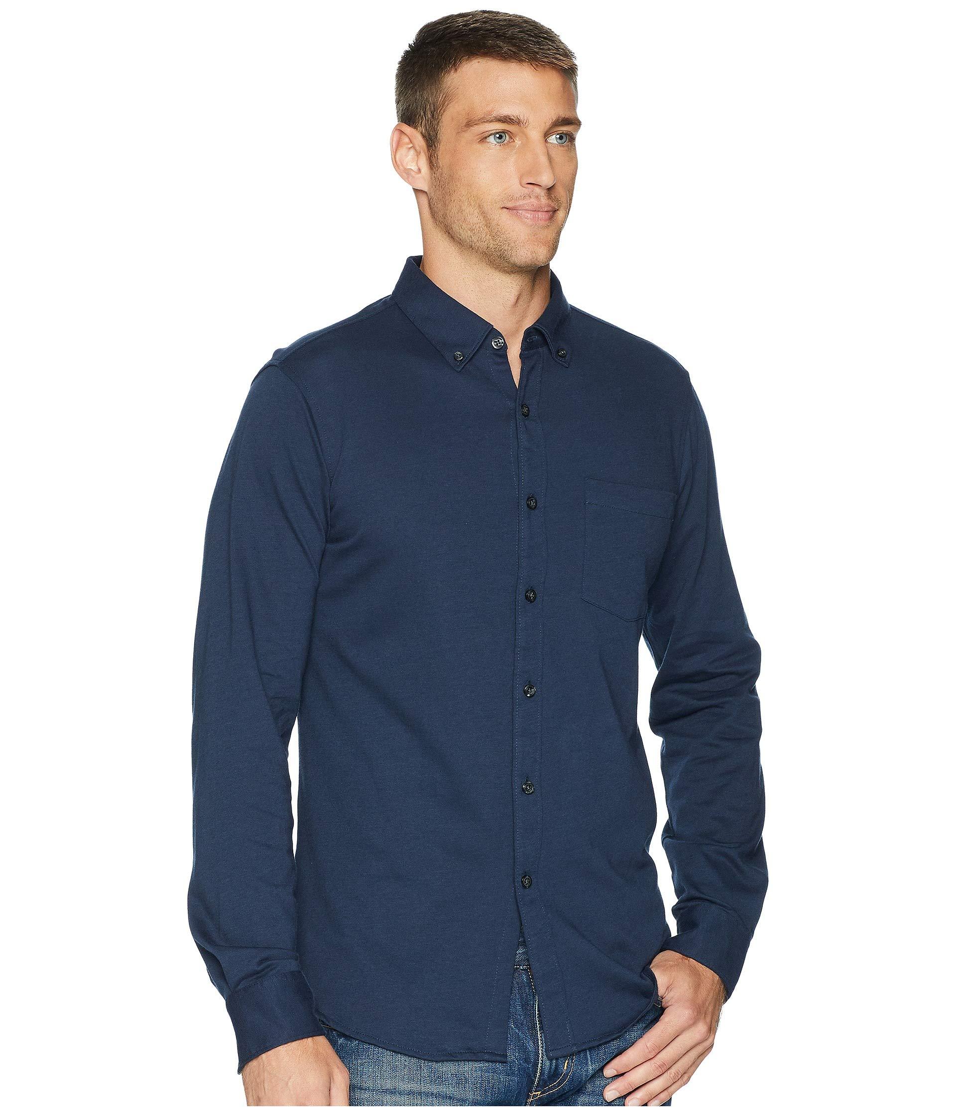 Slim Ellis Fit Knit Perry Blue Heron Shirt C65Pnqw